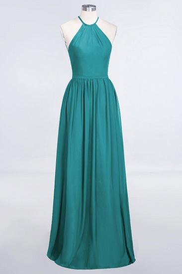 BMbridal Affordable Halter Sleeveless Long Burgundy Bridesmaid Dress with Ruffle_32