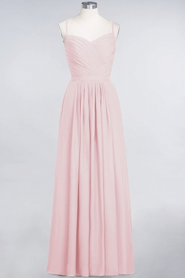 BMbridal Glamorous Spaghetti Straps Sweetheart Ruffle Chiffon Bridesmaid Dress Online_3