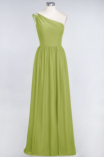 Affordable Chiffon One-Shoulder Ruffle Bridesmaid Dress with Beadings_34