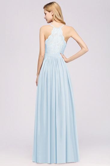 Affordable Chiffon V-Neck Sleeveless Lace Bridesmaid Dress Online_52