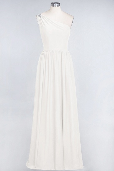 Affordable Chiffon One-Shoulder Ruffle Bridesmaid Dress with Beadings_2