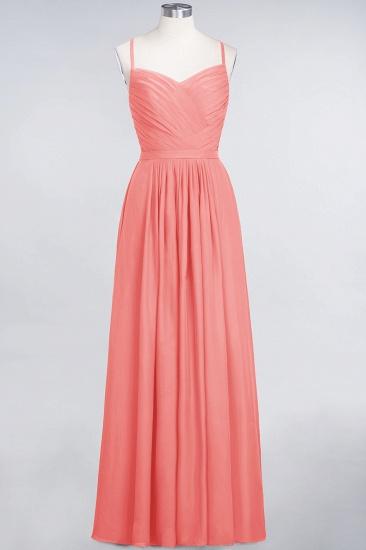 Glamorous Spaghetti Straps Sweetheart Ruffle Chiffon Bridesmaid Dress Online_7