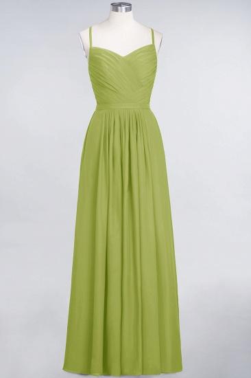 Glamorous Spaghetti Straps Sweetheart Ruffle Chiffon Bridesmaid Dress Online_32
