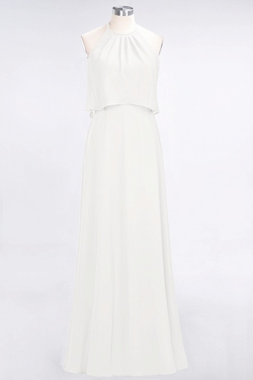 BMbridal Gorgeous Chiffon Flounced Crinkle Sheath Long Burgundy Bridesmaid Dresses_2