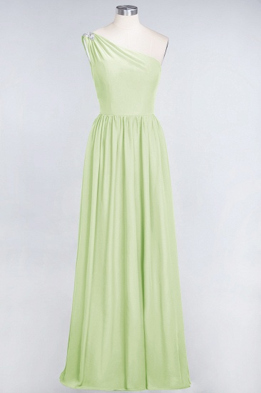 Affordable Chiffon One-Shoulder Ruffle Bridesmaid Dress with Beadings_35