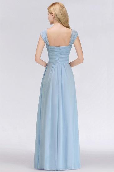 Modest Chiffon Sweetheart Sleeveless Cheap Bridesmaid Dresses with Ruffles_3