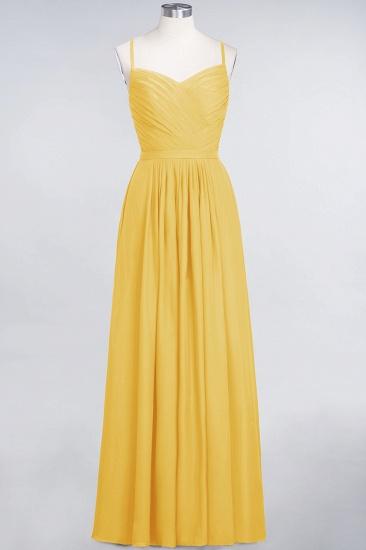Glamorous Spaghetti Straps Sweetheart Ruffle Chiffon Bridesmaid Dress Online_16
