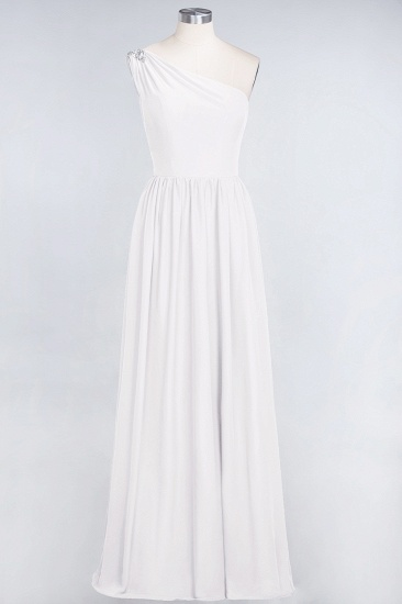 Affordable Chiffon One-Shoulder Ruffle Bridesmaid Dress with Beadings_1