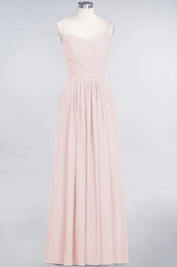 Glamorous Spaghetti Straps Sweetheart Ruffle Chiffon Bridesmaid Dress Online_5