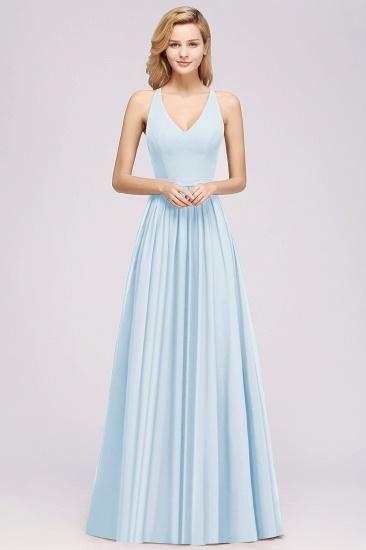 Affordable Chiffon V-Neck Sleeveless Lace Bridesmaid Dress Online_51