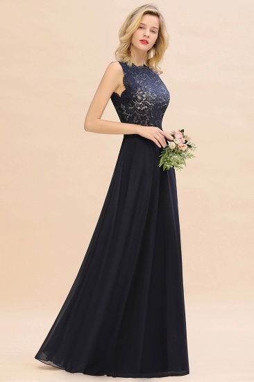 Exquisite Scoop Chiffon Lace Bridesmaid Dresses with V-Back_55
