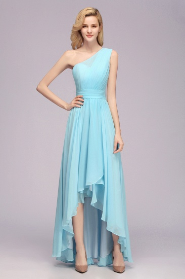 BMbridal Chic Hi-Lo One Shoulder Ruffle Affordable Bridesmaid Dress Affordable_1