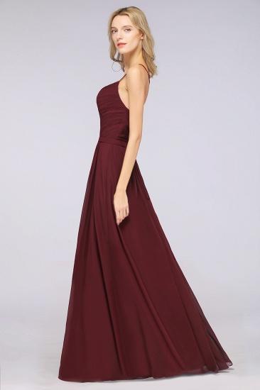 BMbridal Glamorous Spaghetti Straps Sweetheart Ruffle Chiffon Bridesmaid Dress Online_56
