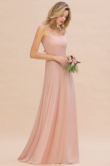 BMbridal Chic Straps Sleeveless Chiffon Affordable Bridesmaid Dresses with Ruffle_5