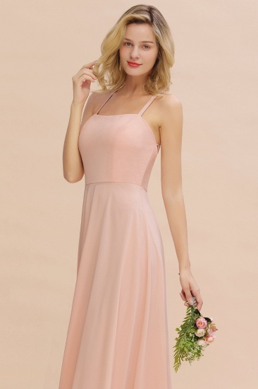 BMbridal Chic Straps Sleeveless Chiffon Affordable Bridesmaid Dresses with Ruffle_6