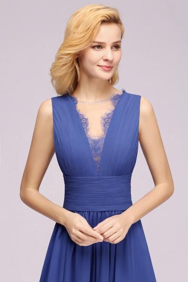 BMbridal Elegant Chiffon Lace Jewel Sleeveless Bridesmaid Dress with Ruffle_57