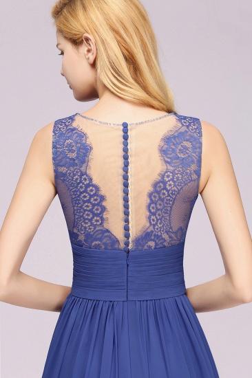 BMbridal Elegant Chiffon Lace Jewel Sleeveless Bridesmaid Dress with Ruffle_58