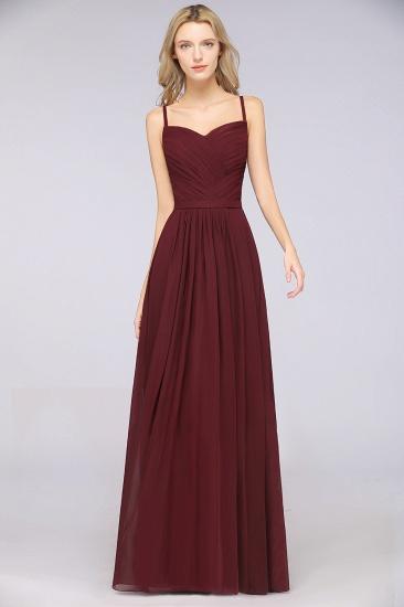 Glamorous Spaghetti Straps Sweetheart Ruffle Chiffon Bridesmaid Dress Online_39