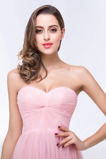 BMbridal Chic Tulle Ruffle Strapless Sweetheart Floor-Length Bridesmaid Dresses_11