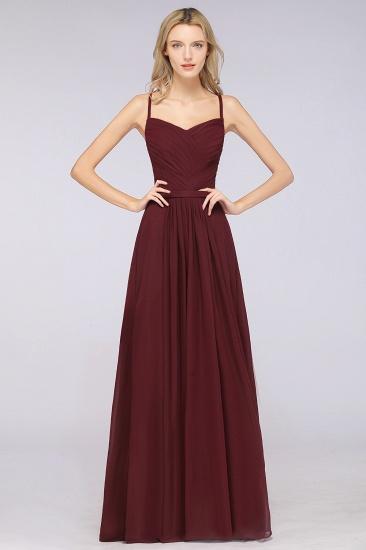Glamorous Spaghetti Straps Sweetheart Ruffle Chiffon Bridesmaid Dress Online_10