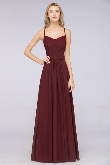 Glamorous Spaghetti Straps Sweetheart Ruffle Chiffon Bridesmaid Dress Online_38