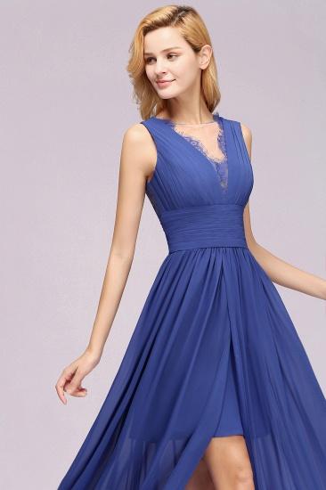 BMbridal Elegant Chiffon Lace Jewel Sleeveless Bridesmaid Dress with Ruffle_56