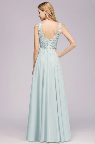 BMbridal Elegant Lace V-Neck Chiffon Affordable Bridesmaid Dress with Beadings_3