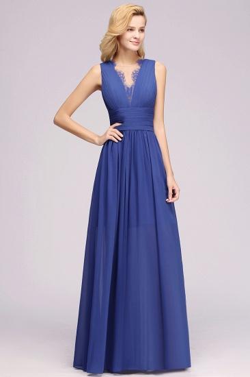 BMbridal Elegant Chiffon Lace Jewel Sleeveless Bridesmaid Dress with Ruffle_53