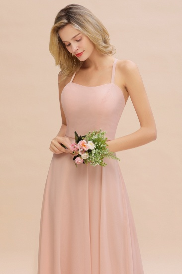 BMbridal Chic Straps Sleeveless Chiffon Affordable Bridesmaid Dresses with Ruffle_8