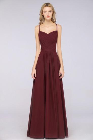 Glamorous Spaghetti Straps Sweetheart Ruffle Chiffon Bridesmaid Dress Online_37