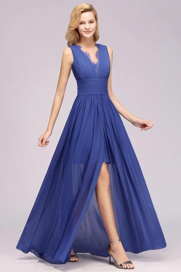 BMbridal Elegant Chiffon Lace Jewel Sleeveless Bridesmaid Dress with Ruffle_54
