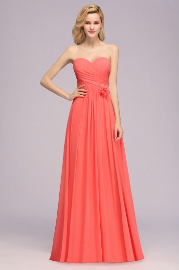 Sweetheart Strapless Flower Bridesmaid Dress