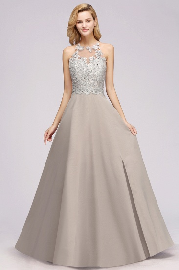 Exquisite Lace Sleeveless Slit Bridesmaid Dress