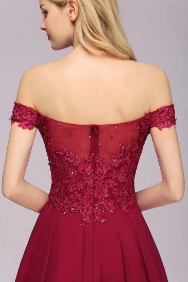 Gorgeous Lace Off-the-shoulder Short Burgundy Bridesmaid Dresses Online_9