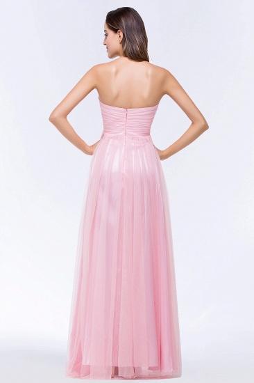 BMbridal Chic Tulle Ruffle Strapless Sweetheart Floor-Length Bridesmaid Dresses_3