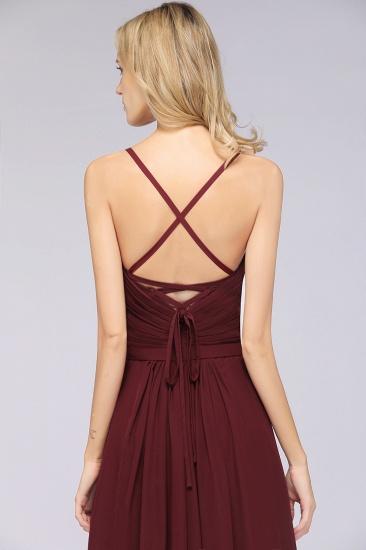 Glamorous Spaghetti Straps Sweetheart Ruffle Chiffon Bridesmaid Dress Online_42
