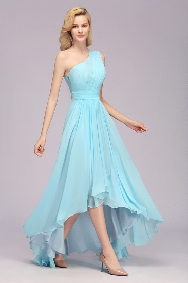 BMbridal Chic Hi-Lo One Shoulder Ruffle Affordable Bridesmaid Dress Affordable_6