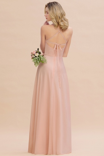 BMbridal Chic Straps Sleeveless Chiffon Affordable Bridesmaid Dresses with Ruffle_3