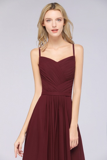 BMbridal Glamorous Spaghetti Straps Sweetheart Ruffle Chiffon Bridesmaid Dress Online_57