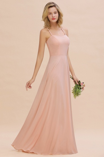 BMbridal Chic Straps Sleeveless Chiffon Affordable Bridesmaid Dresses with Ruffle_4