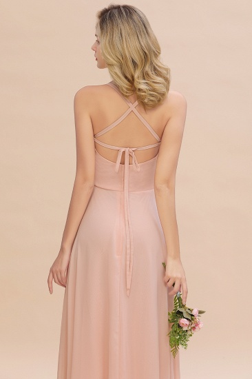 BMbridal Chic Straps Sleeveless Chiffon Affordable Bridesmaid Dresses with Ruffle_10