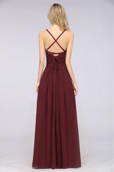 Glamorous Spaghetti Straps Sweetheart Ruffle Chiffon Bridesmaid Dress Online_36