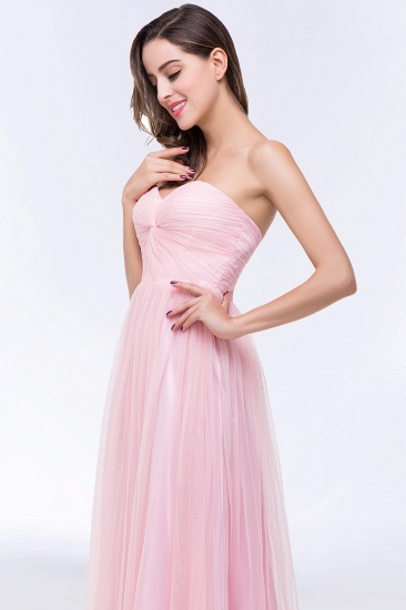 BMbridal Chic Tulle Ruffle Strapless Sweetheart Floor-Length Bridesmaid Dresses_10