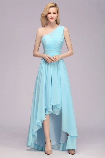 BMbridal Chic Hi-Lo One Shoulder Ruffle Affordable Bridesmaid Dress Affordable_5