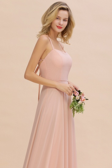 BMbridal Chic Straps Sleeveless Chiffon Affordable Bridesmaid Dresses with Ruffle_7