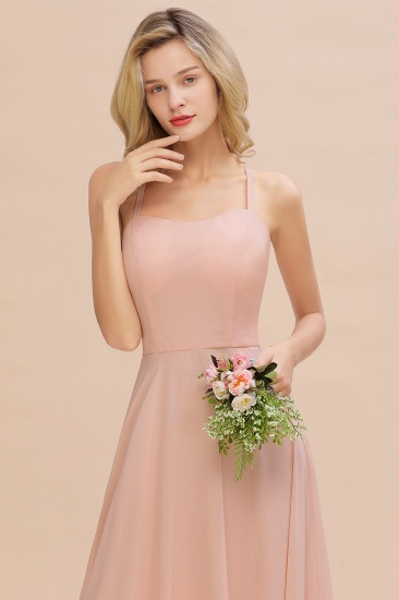 BMbridal Chic Straps Sleeveless Chiffon Affordable Bridesmaid Dresses with Ruffle_9