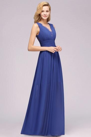 BMbridal Elegant Chiffon Lace Jewel Sleeveless Bridesmaid Dress with Ruffle_55