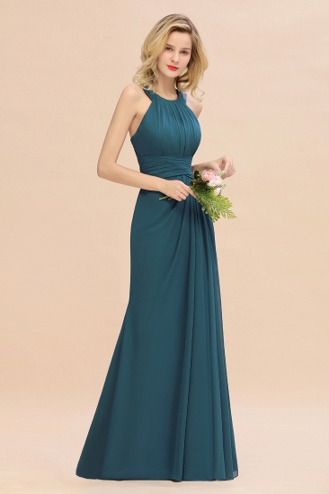 Elegant Round Neck Sleeveless Stormy Bridesmaid Dress with Ruffles_55