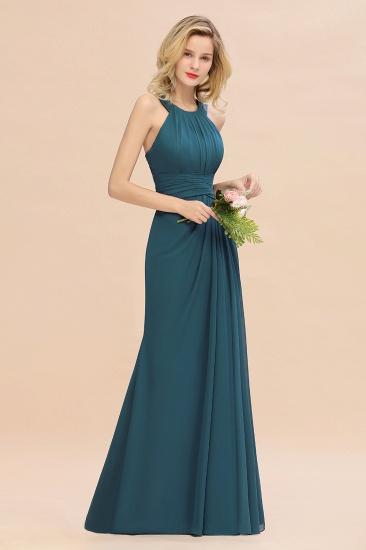 BMbridal Elegant Round Neck Sleeveless Stormy Bridesmaid Dress with Ruffles_55