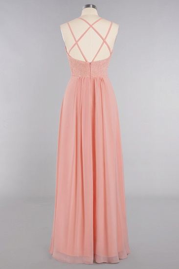 BMbridal Sexy Spaghetti-Straps Coral Lace Bridesmaid Dresses with Slit_60